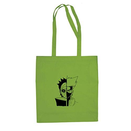 Planet Nerd Ninja Face Off - Stofftasche/Beutel, Farbe: hellgrün