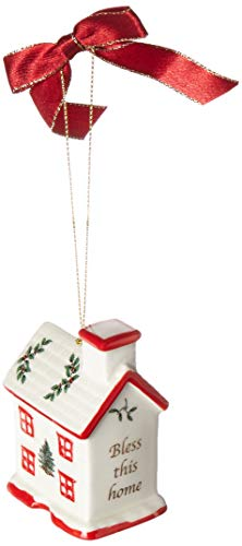 Spode 1667853 Bless This Home Ornament, Green