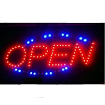 LED OPEN Schild incl. Adapter Reklameschild *