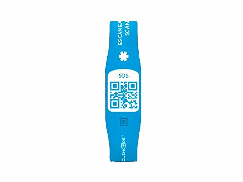Silincode SOSBES - Pulsera SOS con código QR, tamaño S, azul