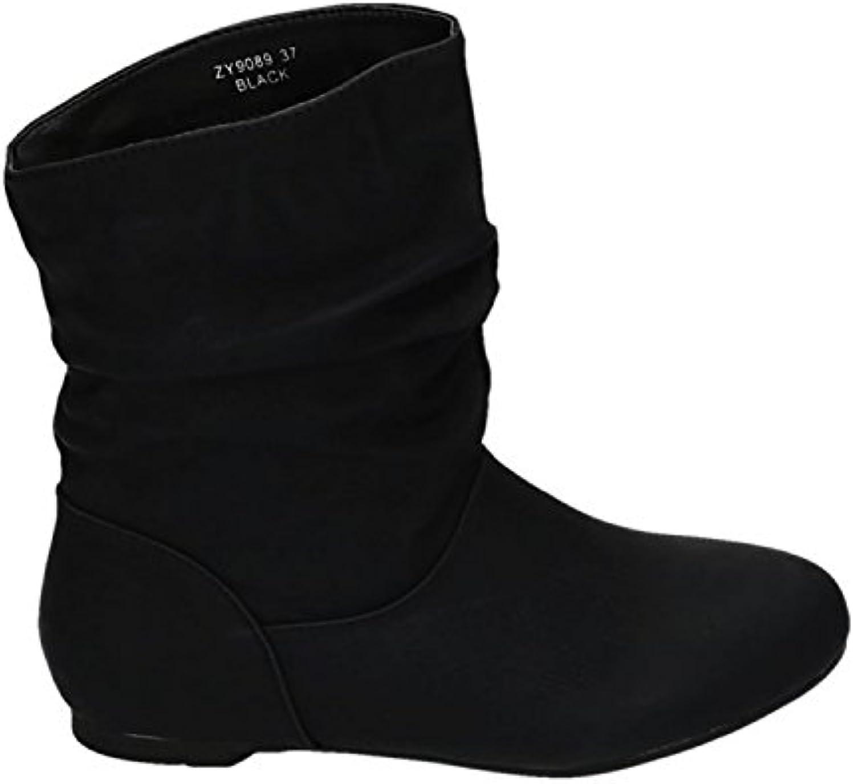 King Of Shoes - Botas plisadas Mujer