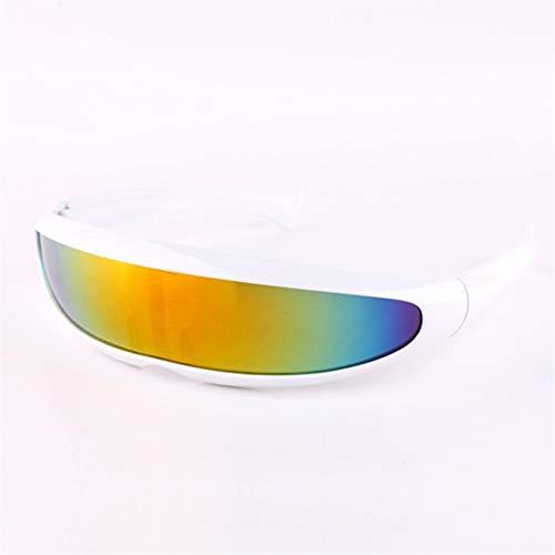 YLYZJH Männer Sonnenbrillen Laser Brillen Männer Frauen Sonnenbrillen Roboter Silber Linse Sonnenbrille Herren Fahrbrille Brille