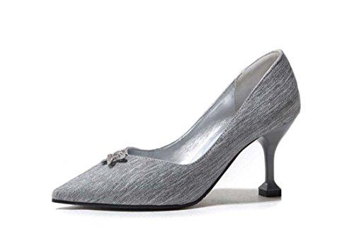 Scarpe Nuove Per Donna Scarpe Grandi Dimensioni 40 41 42 43 Scarpe Eleganti Con Tacco A Punta E Diamanti Argento