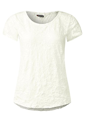 Street One Damen Crashshirt mit Knopfleiste off white