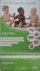 Protector impermeable y transpirable para colchón COCHE/MOISES/CAPAZO 80 x 40 cm