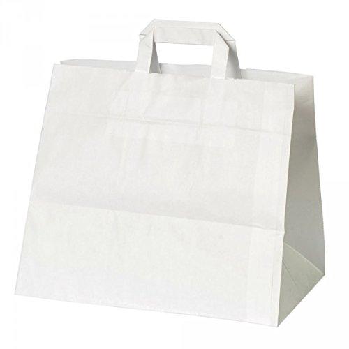 Kuchentragetasche weiß - Packung á 25 Stück - Format: 32 x 17 x 27cm (17 Tragetasche)