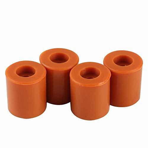 BCZAMD 3D-Drucker Heatbed Silikon-Nivelliersäule 16 mm /0,63 Zoll Hotbed Solide Halterungen Stabile werkzeughitzebeständige Puffer für S5 Ender 5 Prusa i3 Anet A8 Anycubic i3 Wanhao, 4er-Pack Braun