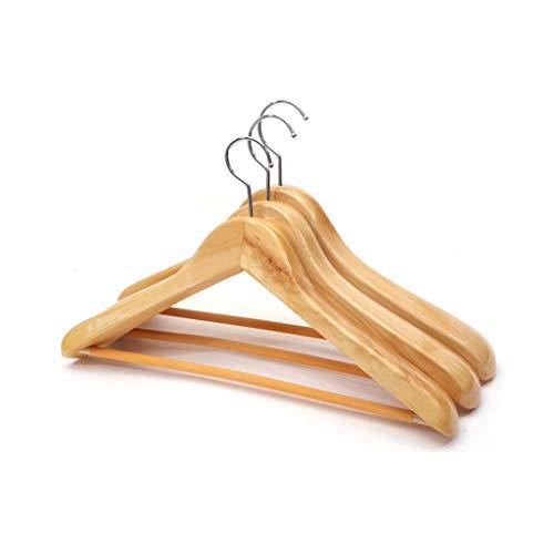 Mgmdian legno nobile rack larghe spalle alberghi con nessuna traccia di spessore appendiabiti in legno grucce suit suit appendiabiti in legno (colore : colore del legno, dimensioni : 5)