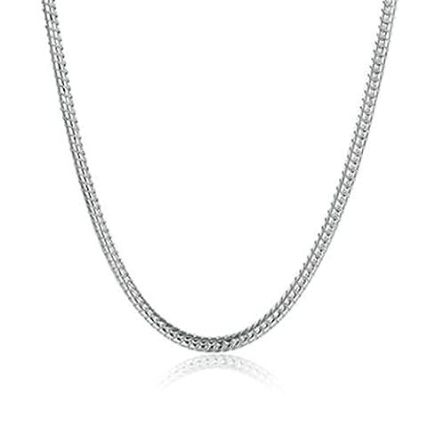 amdxd Jewelry Vergoldete Kette Halsketten für Frauen Silber Schlange
