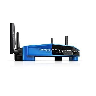 Linksys WRT3200ACM-EU Wireless AC3200 Open Source Router (3200Mbit/s, MU-MIMO, 4 Gigabit Ethernet Ports, 1x USB 3.0, 1x eSata Smart WiFi app) schwarz