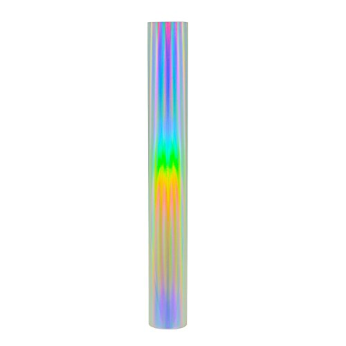 Holographic Heat Transfer Vinyl Bundle HTV Spectrum Silver Rainbow Color 12 Inches by 20 Inches(2 sheets/bundle) for DIY T-shirt,garment