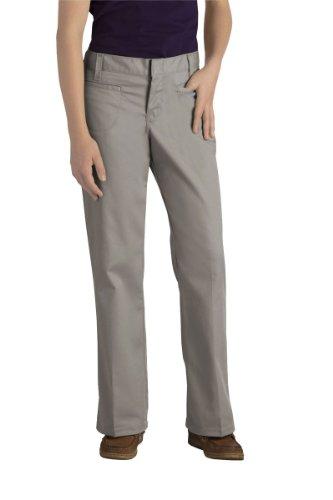 Dickies - - KP711 Mädchen Brustleistentasche Flare Pant Bottom (Jr Größen 3-21), 3, Silver (Pant Bottom Mädchen Flare)