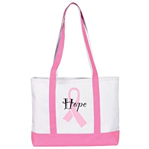 NCD Medical/Prestige Medical 705-PRH Large Canvas Tote Bag – Pink Ribbon Hearts