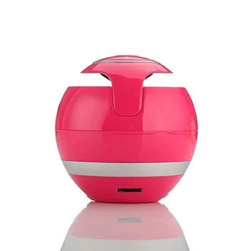 qiyanBluetooth Haut-Parleur Mini Portable sans Fil Haut-Parleur Soundbar Basse Boombox Boîte de Son avec Carte Micro TF FM Radio LED Light-in Portable Haut-parleurs Rouge