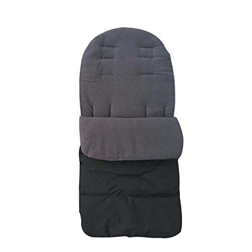 Para carrito de bebé y funda–Saco universal para silla de bebé para cochecito de bebé cochecito de forro de delantal fuibo gris gris
