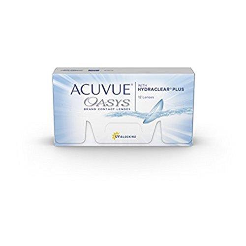 ACUVUE OASYS Kontaktlinsen - 2-Wochen-Linsen für Tag und Nacht mit -5 dpt und BC 8.4 - UV Schutz, Austrocknungsschutz & extrem hoher Tragekomfort - 6 Linsen