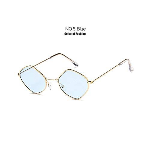 Sportbrillen, Angeln Golfbrille,Fashion Women Vintage Sunglasses Men Alloy Frame Ocean Purple Blue Clear Sun Glasses Small Frame Cat Eye Glasses UV400 Blue