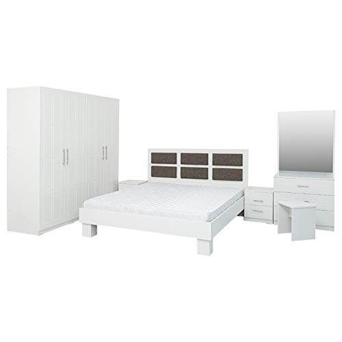 AFT Pentair Bedroom Set Mattress - AFT Pentair Series Bedroom Set With Mattress - King Size, White