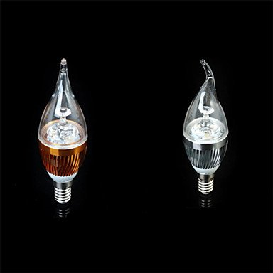FDH 3W E14 300-350LM Velas LED Bombillas LED de luces(220V),cálida White-Golden