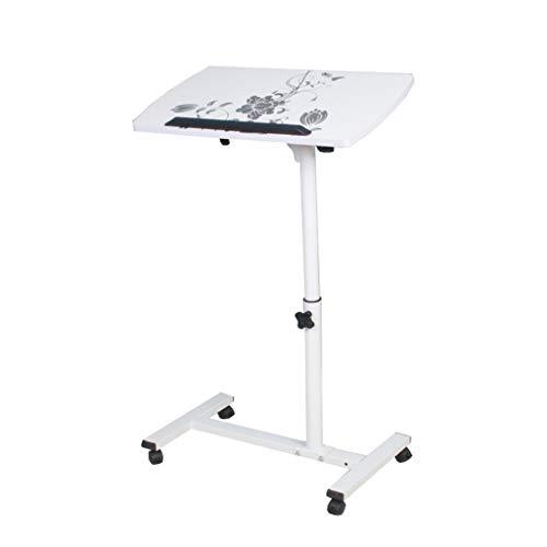XuZg-Small table Student Desk, Haushalt Studie Wohnzimmer Laptop Tisch Schlafzimmer Nachttisch Alter Mann Kind Nachttisch Esstisch (Color : White, Size : 54 * 32 * 62~88cm) -