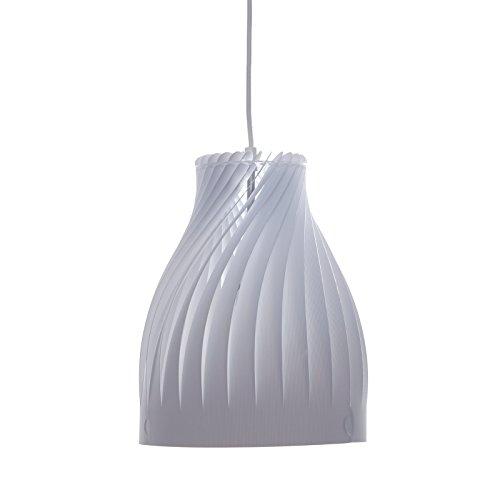 DESIGN DELIGHTS Lampe à Suspendre « NOBILA » - 32 cm, Blanc, Plastique - Suspension