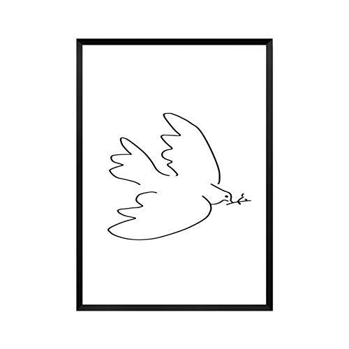 Bilder Auf Leinwand Bild Druck Auf Leinwand Minimalistischen Pablo Picasso Abstrakte Baumschule Leinwand Malerei Tierische Kunst Öl Poster An Der Wand Bild Für Wohnzimmer Home Decor Ungerahmt, 40 -