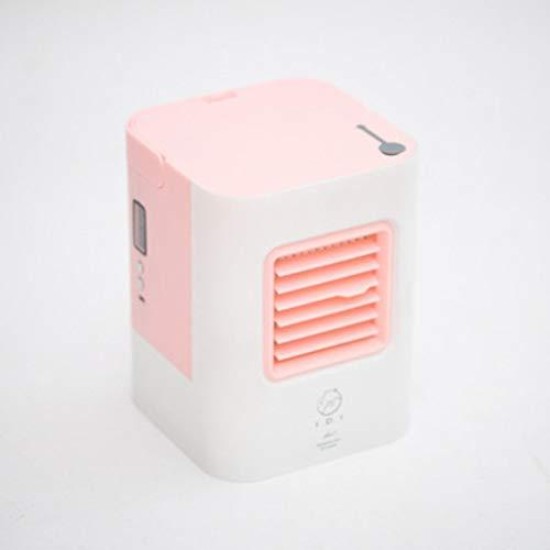 AA-small air conditioner XXKT Tragbare kleine klimaanlage,Lüfter Ventilator USB-Haus klimaanlage Mini Luft kühler Mini-Ventilator Macht-Rosa -