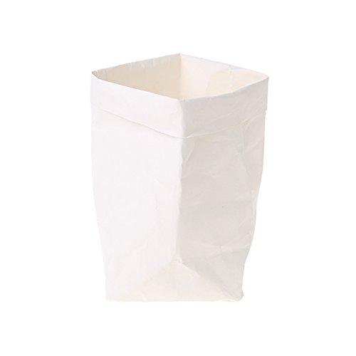 Sac en papier Kraft Shizuhatagayama lavable Multi Fonctions pour plantes et fleurs à pain de stockage de cadeau de fête de mariage, Papier Kraft, blanc, 40 cm
