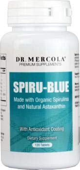 Dr Mercola Spiru-Blue Made with Organic Spirulina and Natural Astaxanthin (120 Tablets)