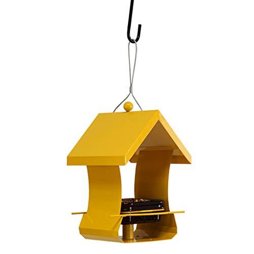 JXXDDQ Mangeoire à Oiseaux pour Animaux de Compagnie en Plein air Wild Food Container Park (Couleur : Le Jaune)