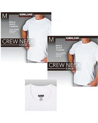 Kirkland SignatureTM Herren T-Shirt Rundhalsausschnitt, Weiß, Brustumfang 106,7-111,8 cm
