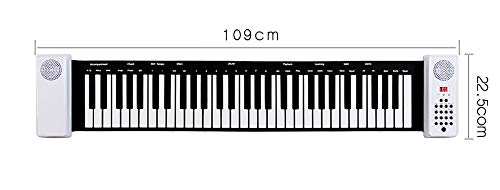 TINGYIN Handrolle Klavier 61 Tasten Adult Professional Folding Keyboard Organizer - Vollfrequenz-Dual-Lautsprecher Real Stereo Multifunktions