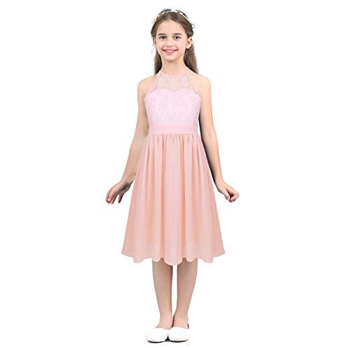3a38c569c Freebily Vestido Encaje Niñas Fiesta de Actuación Comunión Noche Vestido  Largo Infántil Elegante FR Gasa Damas