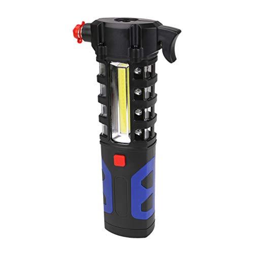 Led-Taschenlampe, Tragbare Multifunktionale Wiederaufladbare USB-Magnetbasis 3 in 1 Auto-Fensterheber/Sicherheitsgurtschneider-Notbeleuchtung