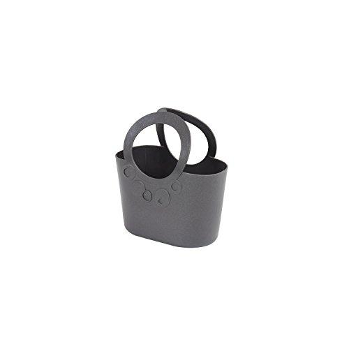 XS kleine moderne Handtasche 1,2 L graphit Griffe Lily Kosmetiktasche Basket