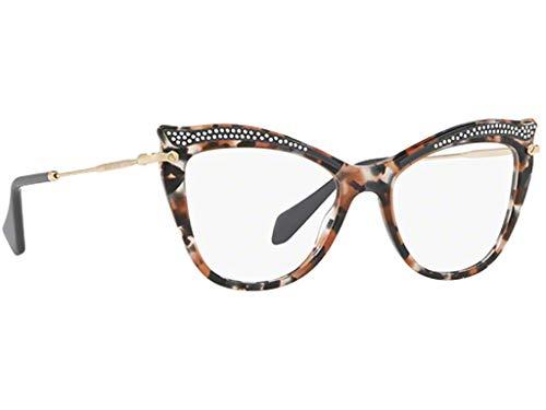 Miu Miu Damen Brillengestell Mehrfarbig Tartarugato Grigio-nero-beige Einheitsgröße