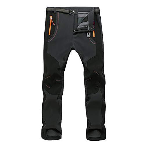 SOMESUN Uomo Coppia Impermeabile a Prova di Vento All'Aperto Escursionismo Caldo Inverno Pantaloni Spessi Slim Fit alla Caviglia Elasticizzati Larghi Lavoro Elegante Sportivo