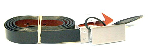 john-lewis-collection-smart-reversible-black-tan-leather-belt-size-small