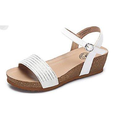Sandales Pour Femmes Rtry Confort Wedge Casual Chaussures Talon Couleur Noir / Blanc Us7.5 / Eu38 / Uk5.5 / Cn38