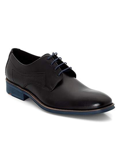 LLOYD GENF Business-Schuhe in Übergrößen Schwarz/Blau 19-059-11 große Herrenschuhe, Größe:51 (Männer Größe 11 Schuhe)