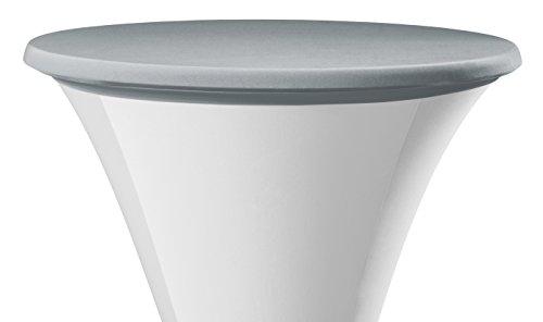 Dena 022893 Tischplatten Bezüge Samba, Durchmesser 80-85 cm, grau