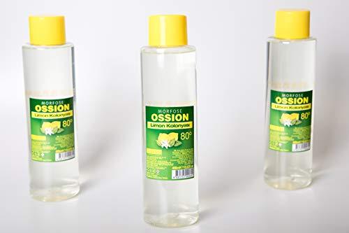 3x Morfose Ossion Zitrone Cologne (3x 400ml) After Shave Lemon Limon Kolonya Erfrischt Kühlt