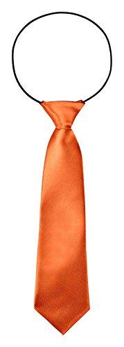 BomGuard Kinderkrawatte Kinder Krawatte 7 cm breit Hochzeit Konformation Taufe in Orange