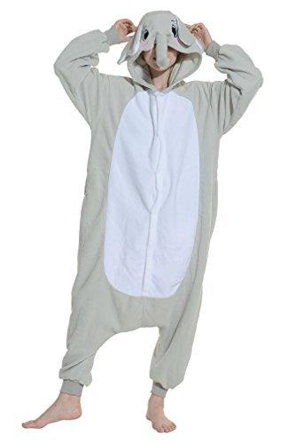 YUWELL - Pijama Entero - para Mujer Grauer Elefant