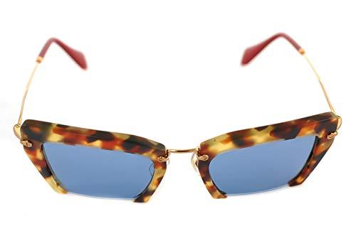 Miu Miu Unisex Sonnenbrille MU10QS, Braun (Havana UA54N0), One Size (Herstellergröße: 54)