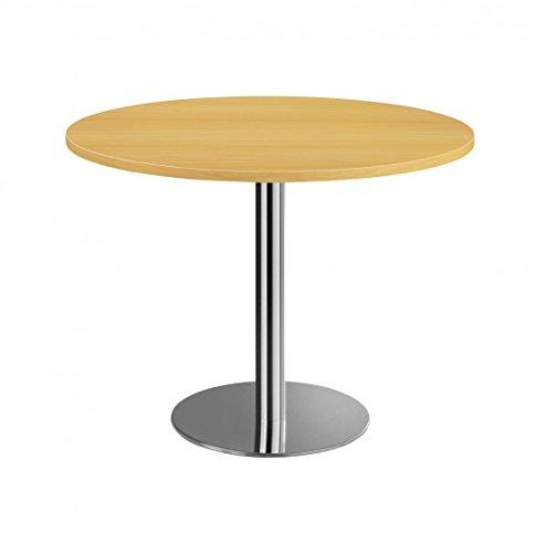DR-Office Besprechungstisch rund 100 cm - Bürotisch Höhe 74,5 cm - 7 Farben zur Auswahl - Fuß...