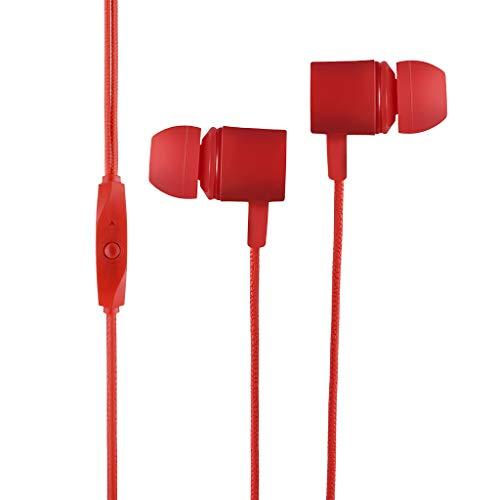 In-Ear3.5mm Stereo Hifi Ohrhörer Bass Kopfhörer Sport Headset mit Mikrofon für Xiaomi (rot)
