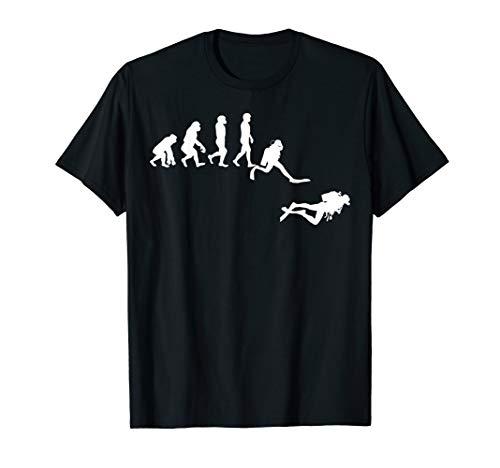 Evolution Tauchen Scuba Diver Taucher T-Shirt Geschenk