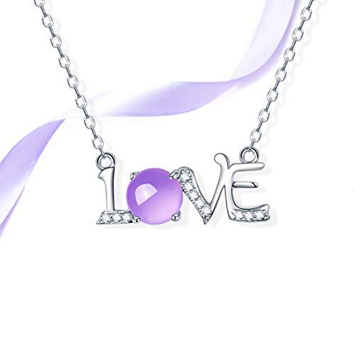 HZB Reine Silber Halskette, Einfache Schlüsselbein Schmuck, natürliche Kristall Anhänger - Jason Rein Natürlichen
