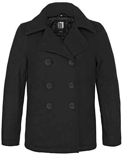 BW-ONLINE-SHOP Navy PEA Coat Wintermantel Jacke, Gr. 5XL, schwarz